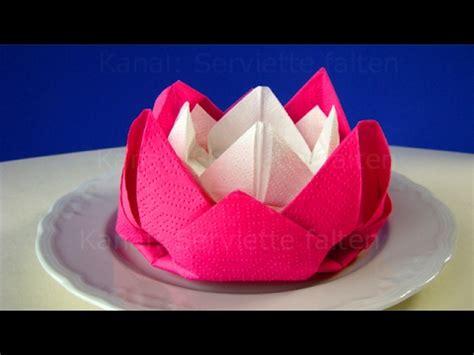 servietten falten ostern blume rose diy osterdeko