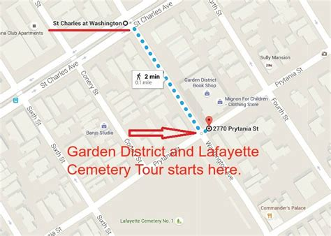 Garden District New Orleans Walking Tour Map by Map Of Greenwich And Neighborhood Guide Free Tours