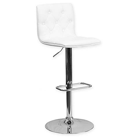 Adjustable Bar Stools Bed Bath And Beyond by Flash Furniture Tufted Vinyl Adjustable Height Bar Stool