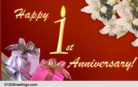 1st wedding anniversary wishes greeting cards happy 1st anniversary free milestones ecards greeting