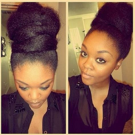 afro puff pocket bun hairstyles afro puff twist bun updo lovely hair pinterest updo