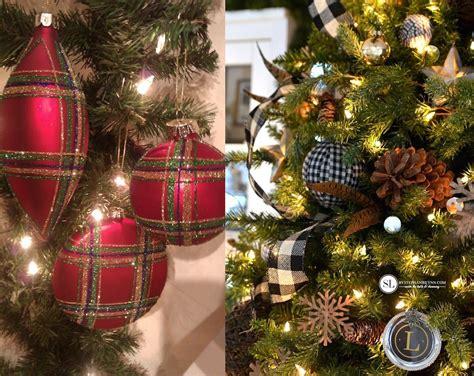 plaid christmas ornaments decorating ideas feed