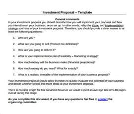 investor template sle investment 11 documents in pdf word
