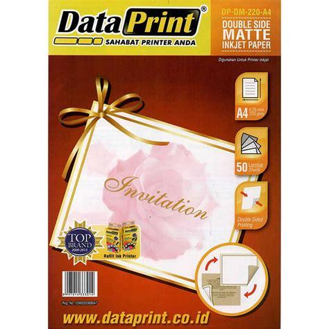 kertas side matte inkjet paper data print a4 220