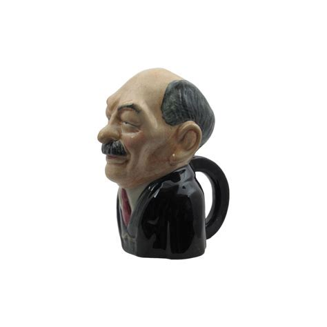 Clement Atlee Toby Jug by Bairstow Pottery   Stoke Art Pottery