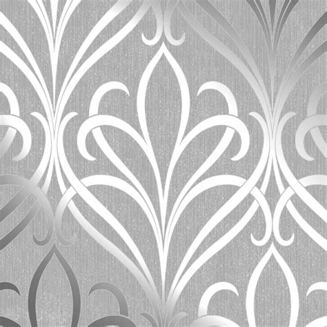 Henderson interiors camden damask wallpaper soft grey silver h980528 wallpaper from i love