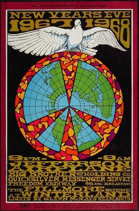 new year date in 1967 jefferson airplane poster winterland san francisco ca