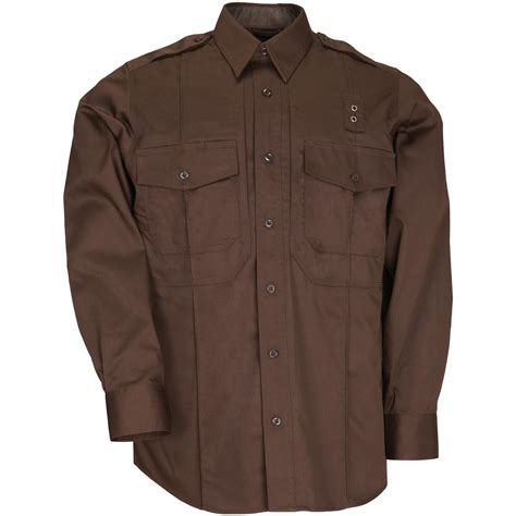 5 11 Brown White s 5 11 tactical 174 pdu sleeve twill class b shirt