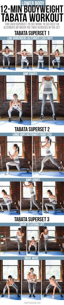 minute bodyweight tabata workout series  body