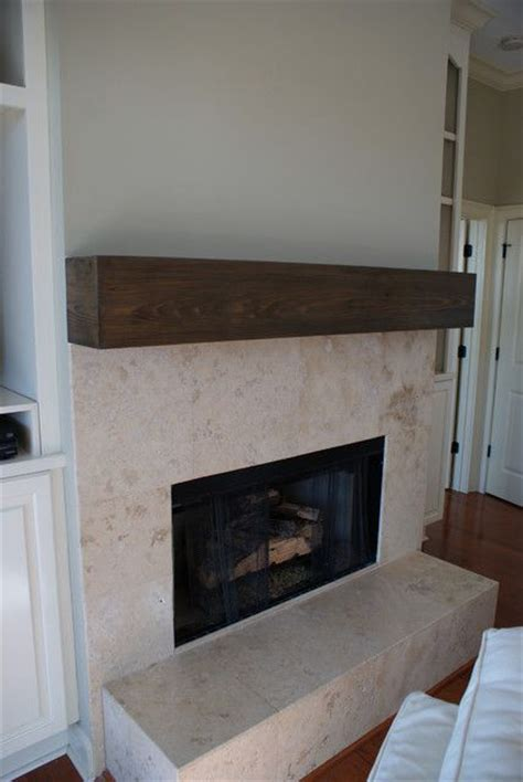tile fireplace with wood beam mantel house