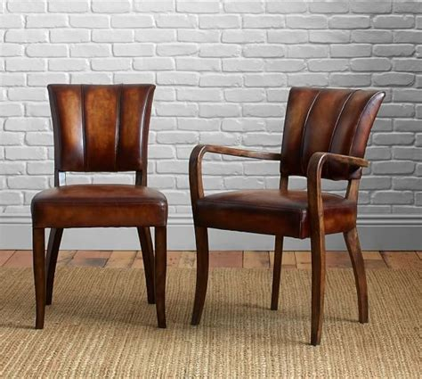 Dining Chairs Pottery Barn Pottery Barn Elliot Leather Dining Chairs Side Arm And Armchair House