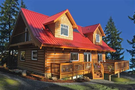 Cabin Style Homes Floor Plans by Model Log Home On Vancouver Island