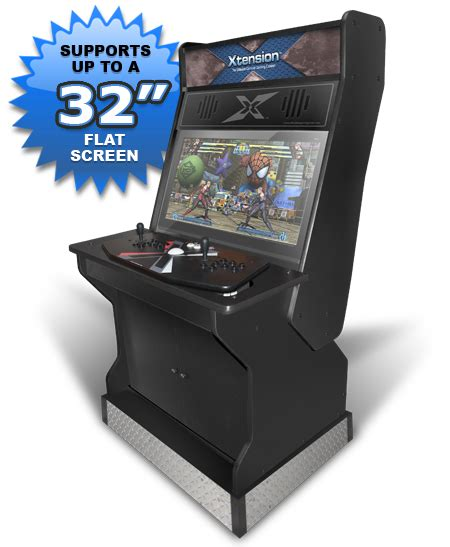 console arcade cabinet 32 quot upright xtension arcade cabinet for the x arcade