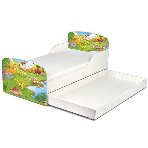 Dinosaur Bed Frame Dinosaurs Mdf Toddler Bed With Storage New Bedroom Ebay