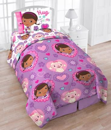 doc mcstuffins twin bedding set disney character 4 piece twin bedding sets only 24 96