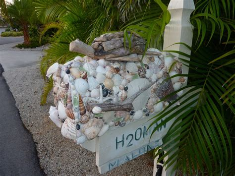 mailbox with seashell mailboxes i shelling