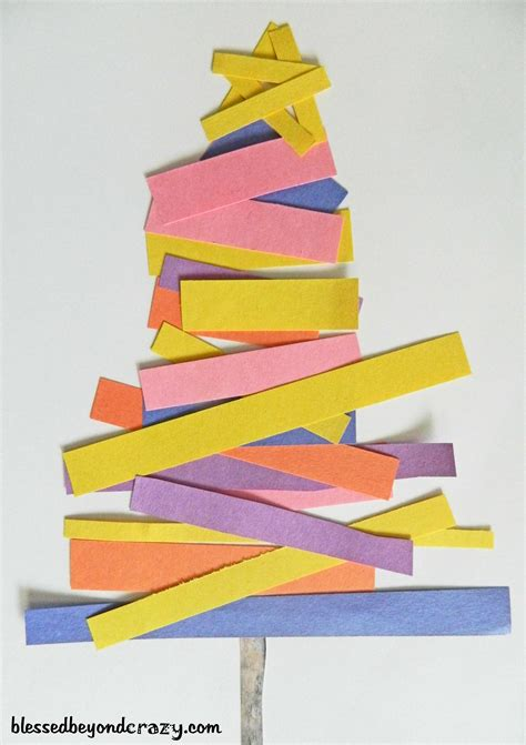 xmas tree activity out of construction paper 12 days of crafts for day 7 blessed beyond
