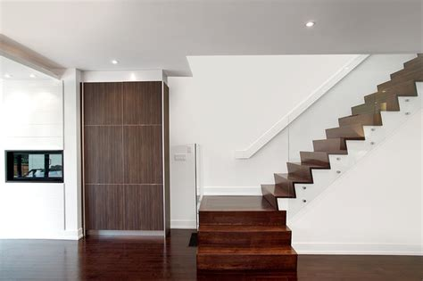 Stairs Without Banister Contemporary Home Modern Staircase Toronto By