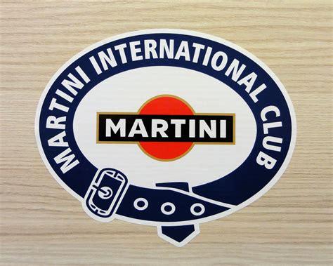 porsche martini logo martini international club laminated motorsport sticker