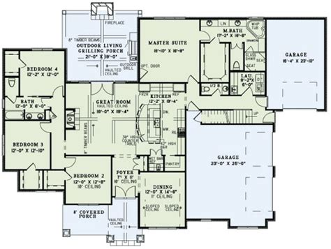 house plans with vaulted great room floor plan dream home pinterest