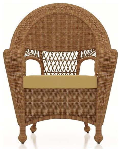 Outdoor Dining Room Chair Cushions Patio Rattan Dining Chair Straw Wicker Wheat