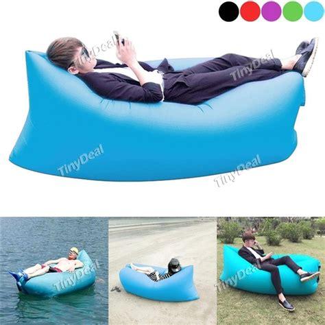 inflatable beach bed fast inflatable lounger air sleep cing sofa beach