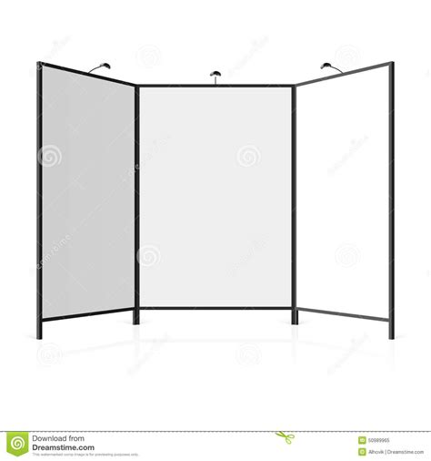 booth design illustrator blank trade show booth stock vector image 50989965