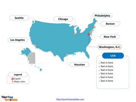 Free Usa Powerpoint Map Free Powerpoint Templates Powerpoint Map Template