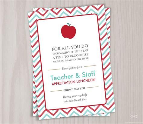 teachers day invitation card templates appreciation invitation printable thank you