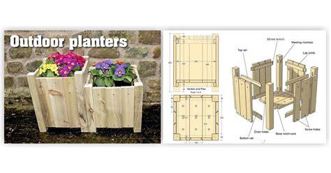 Outdoor Planter Plans by Outdoor Planter Plans Woodarchivist