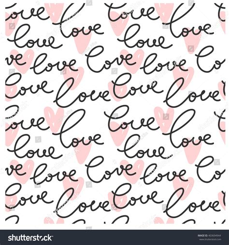 love shape pattern vector vector seamless love heart shape pattern stock vector