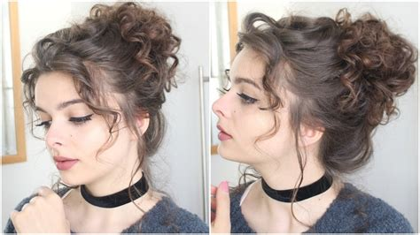 youtube hairstyles messy buns giant messy curly bun tutorial youtube
