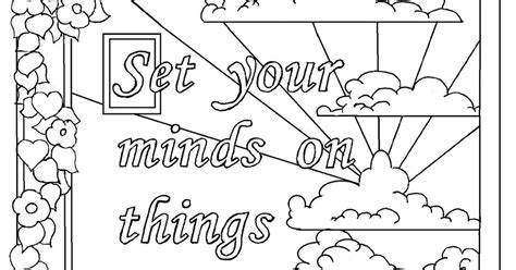 Colossians 3 Coloring Page by Coloring Pages For By Mr Adron Colossians 3 2 Print