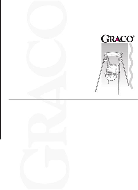graco baby swing instructions graco baby swing 1136 user guide manualsonline com