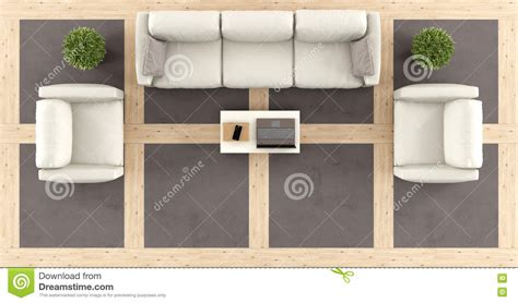 Living Room Table Top View Top View Of A Modern Living Room Stock Illustration