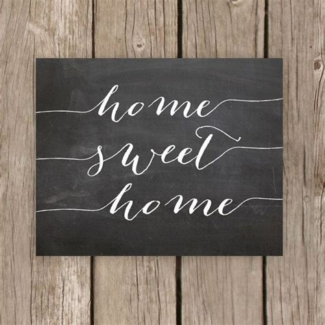 home decor chalkboard home sweet home chalkboard printable sign home decor