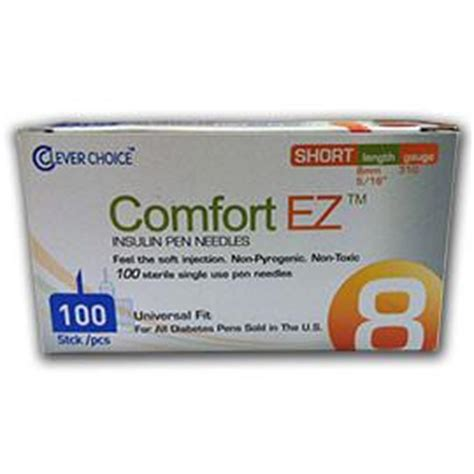 comfort ez pen needles comfort ez pen needles short 31g 8mm 5 16 quot 100 bx