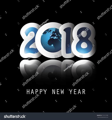 new year wishes vector best wishes celebrate new year all stock vector 715121785