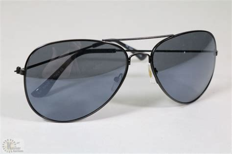 7 Pairs Of Aviator Sunglasses by Pair Of New All Black Aviator Sunglasses Kastner Auctions