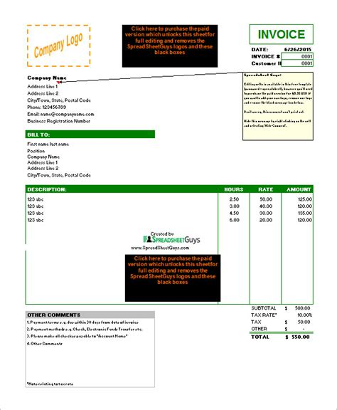 microsoft invoice template 55 free word excel pdf