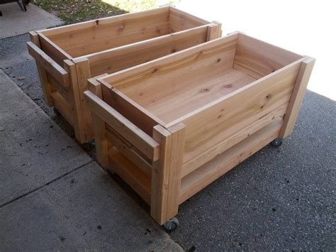 Planter Box With Wheels by Some Raised Planter Boxes On Casters I Built To Grow Some