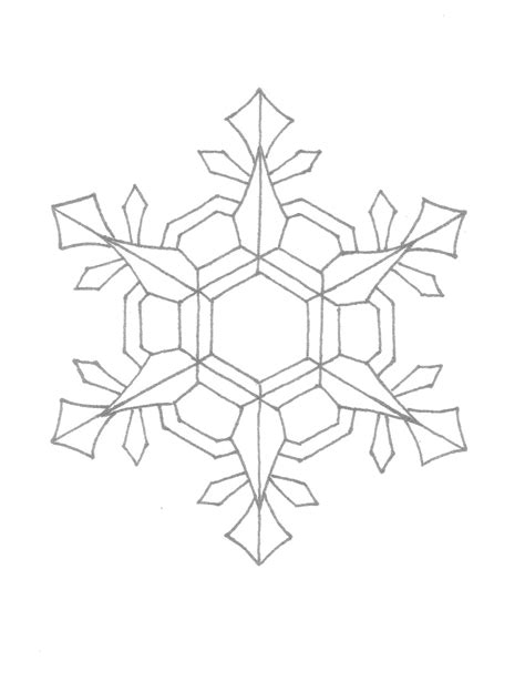printable snowflake template free printable snowflake coloring pages for