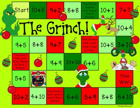 printable board games for the classroom the creative colorful classroom grinch day plans
