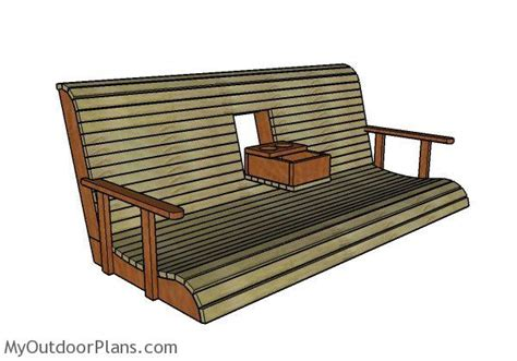 swing center porch swing with center console plans myoutdoorplans