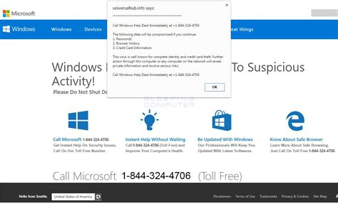 Remove The Call Windows Help Desk Immediately Tech Support