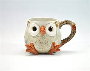 Adorable vintage owl mug cup fitz and floyd ceramic collectible