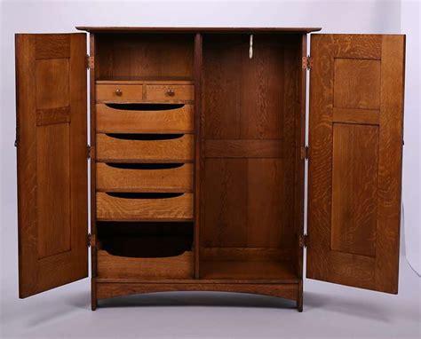 Dresser Wardrobe by L Jg Stickley Two Door Wardrobe Dresser California