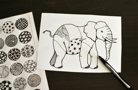 how do you pattern an idea drawing zentangle elephants make and takes