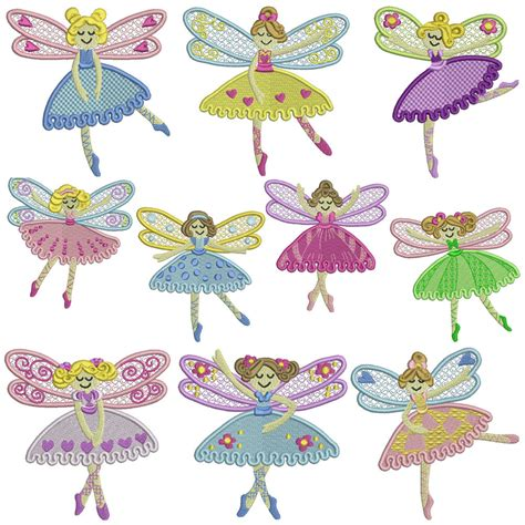 design embroidery pattern dance fairy machine embroidery patterns 10 designs