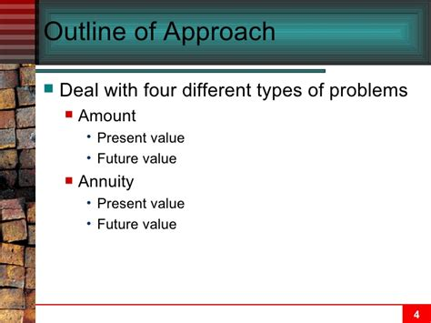 Net Present Value Mba Math by Chapter 05 Time Value Of Money